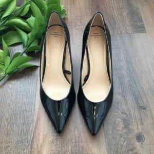 Zara Black Patent Leather Pointed Heels